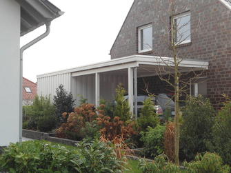 Holzkonstruktion für terrassenüberdachung